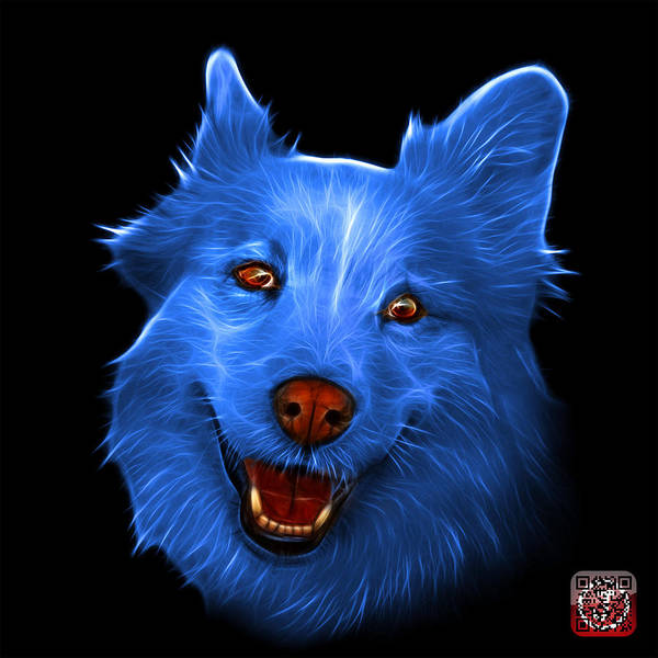 Painting - Blue Siberian Husky Mix Dog Pop Art - 5060 Bb by James Ahn