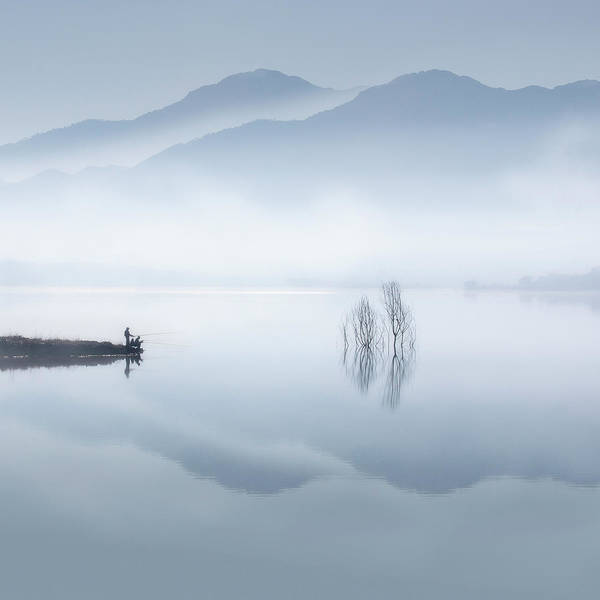 Alone Photograph - Blue Silence by Jose Beut