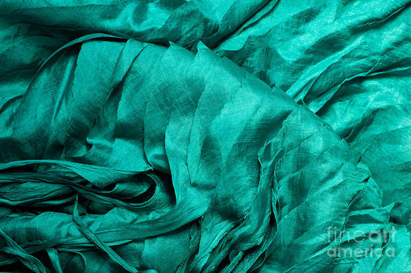 Turqoise Photograph - Blue Silk 01 by Rick Piper Photography
