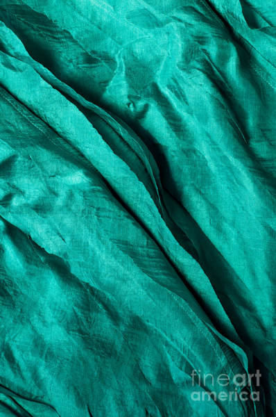Turqoise Photograph - Blue Silk 03 by Rick Piper Photography