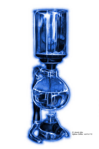 Digital Art - Blue Siphon Coffee 6781 F S by James Ahn