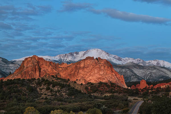 Wall Art - Photograph - Blue Skies Over Pikes Peak by Ronda Kimbrow
