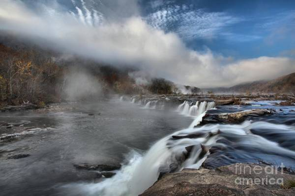 Photograph - Blue Skies Over Sandstone Falls by Adam Jewell