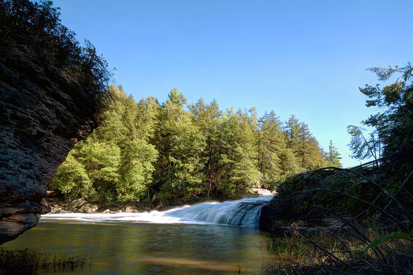 Swallow Falls State Park Wall Art - Photograph - Blue Skies Over Swallow Falls by Gene Walls