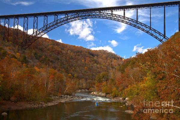 Photograph - Blue Skies Over The New River Bridge by Adam Jewell