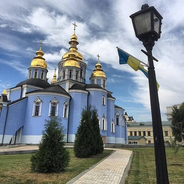 Japan Photograph - #blue #sky And Blue #church In #kiev by Ryoji Japan