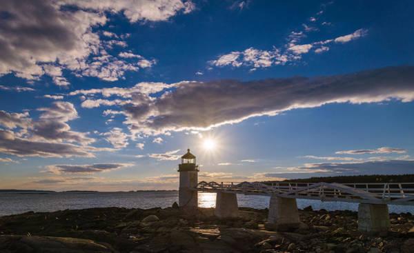 Marshall Point Lighthouse Photograph - Blue Sky Light by Kristopher Schoenleber