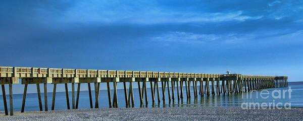 Photograph - Blue Sky Pier by Dave Bosse