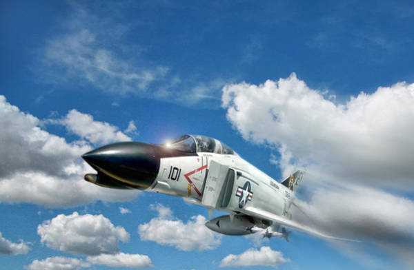 F-4 Wall Art - Digital Art - Blue Sky Thunder by Peter Chilelli