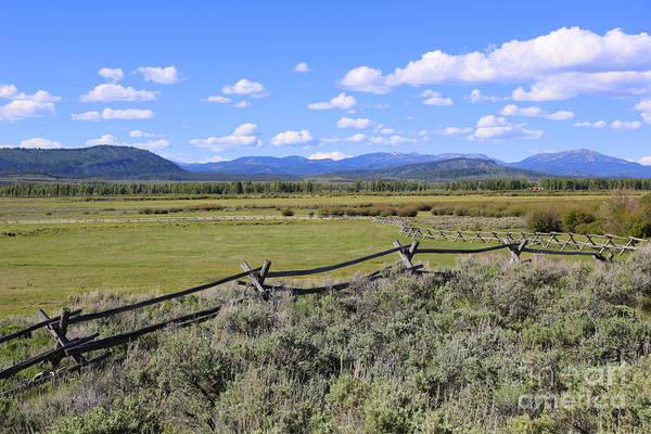 Photograph - Blue Sky Wyoming Landscape by Carol Groenen