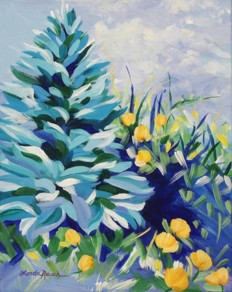 Painting - Blue Spruce by Linda Rauch