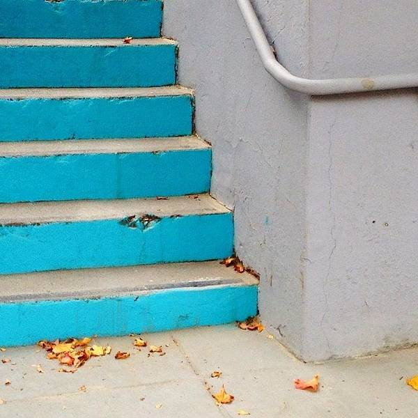 Wall Art - Photograph - Blue Stairs by Julie Gebhardt