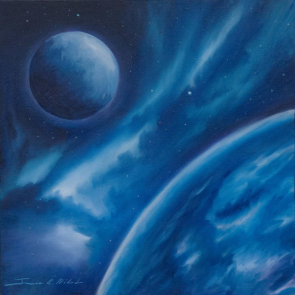 Painting - Blue Star by James Christopher Hill