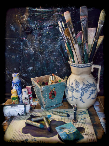 Photograph - Blue Still Life by Bellesouth Studio