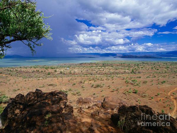 Photograph - Blue Storm Over Lake Baringo by Jim DeLillo