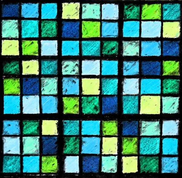 Photograph - Blue Sudoku by Karen Adams