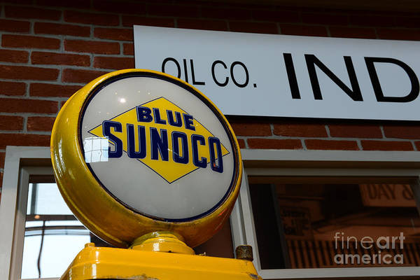 Wall Art - Photograph - Blue Sunoco Globe by Paul Ward