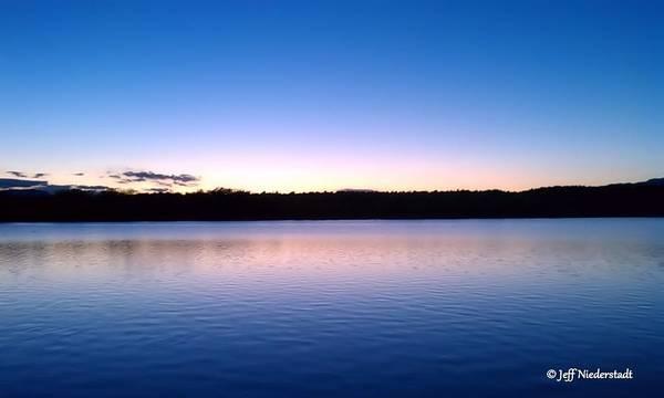 Photograph - Blue Sunset by Jeff Niederstadt