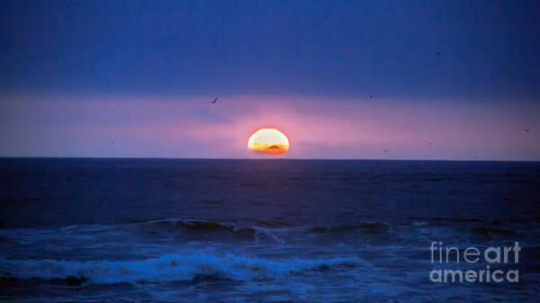 Marine Layer Photograph - Blue Sunset by Robert Bales