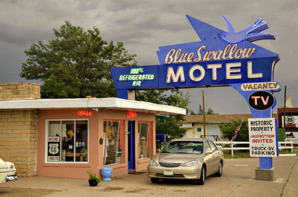 Swallow Photograph - Blue Swallow Motel by Ricky Barnard