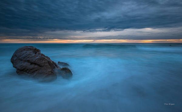 Photograph - Blue Swirl- Cambria by Tim Bryan