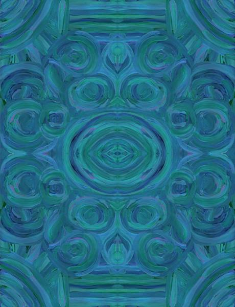 Painting - Blue Swirl Vertical by Barbara St Jean