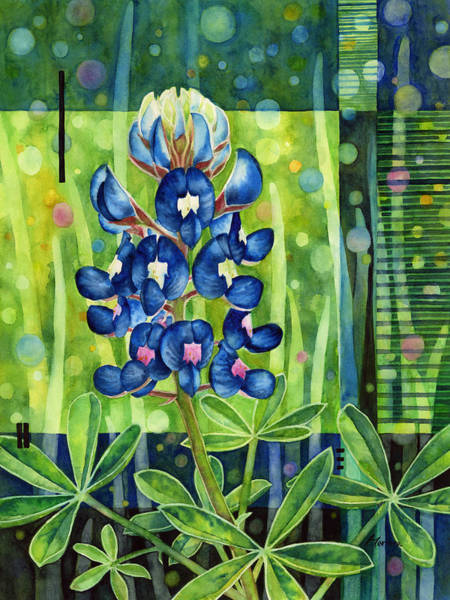 Wall Art - Painting - Blue Tapestry by Hailey E Herrera