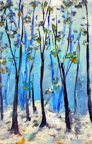 Painting - Blue Thoughts In Winter by Daliana Pacuraru