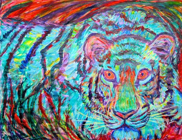 Painting - Blue Tiger by Kendall Kessler