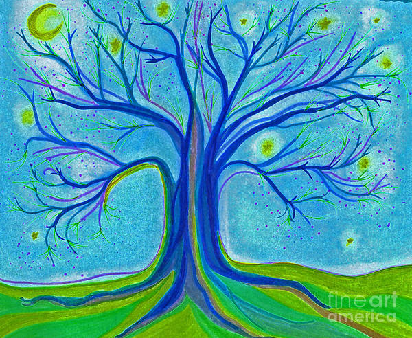 Jrr Drawing - Blue Tree Sky By Jrr by First Star Art