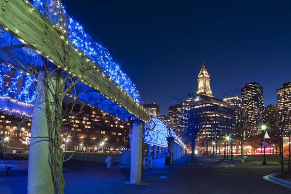 Photograph - Blue Trellis In Christopher Columbus Park - Boston by Joann Vitali
