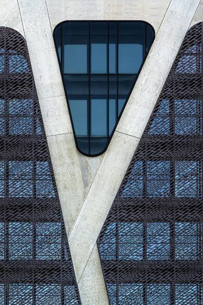 Court Photograph - Blue Triangle by Jef Van Den