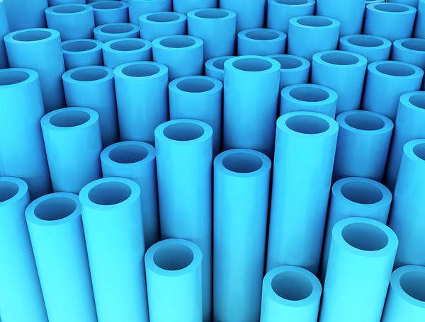 Wall Art - Photograph - Blue Tubes by Jesper Klausen / Science Photo Library