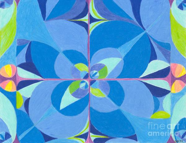 Wall Art - Drawing - Blue Unity by Kim Sy Ok