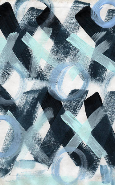 Valentine Wall Art - Painting - Blue Valentine- Abstract Painting by Linda Woods