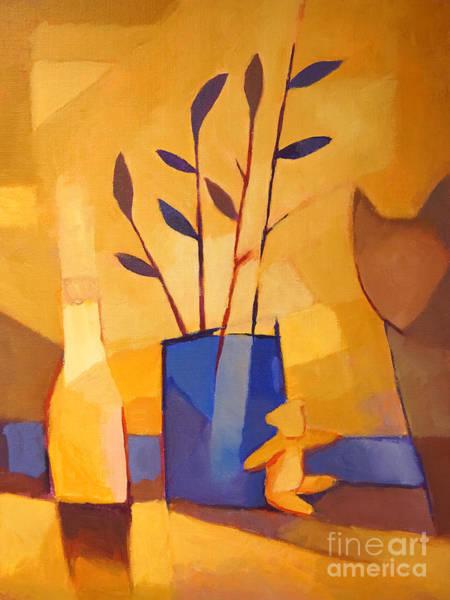 Painting - Blue Vase by Lutz Baar