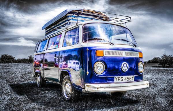 Volkswagen Camper Photograph - Blue Vw Campervan by Ian Hufton
