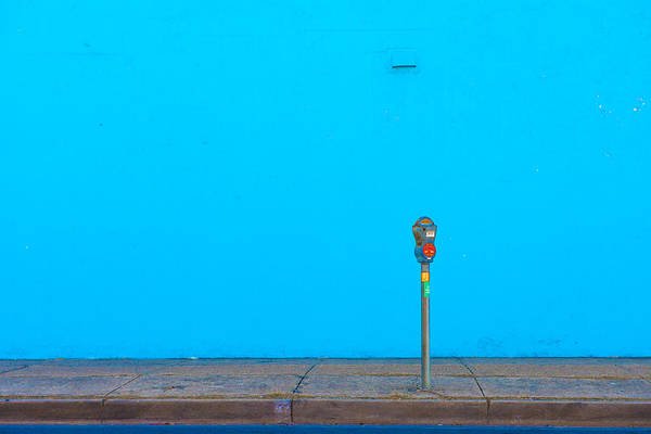 Parking Photograph - Blue Wall Parking by Darryl Dalton