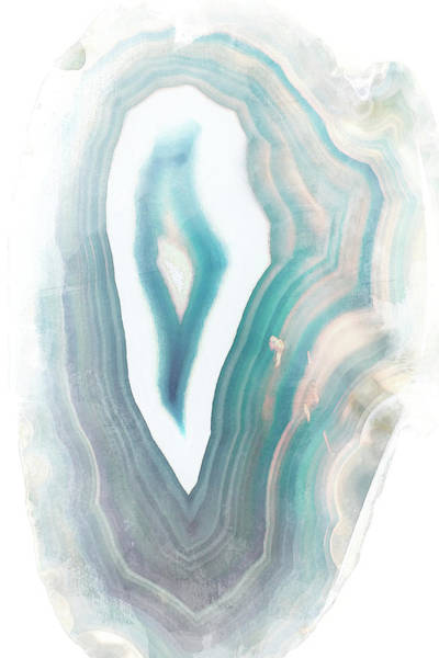 Agate Photograph - Blue Watercolor Agate by Susan Bryant