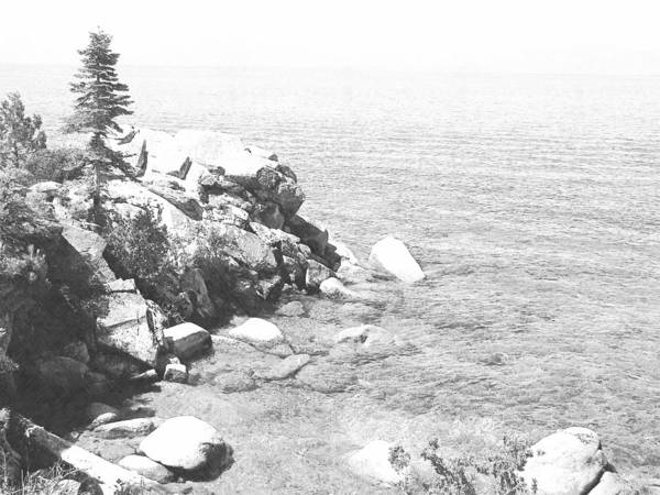 Photograph - Blue Waters Lake Tahoe by Frank Wilson