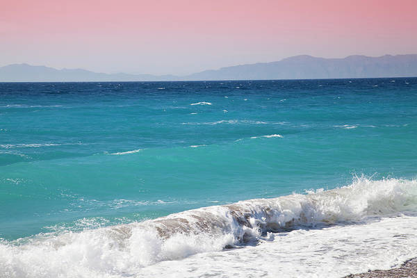 Dodecanese Photograph - Blue Waters Of The Agean With View Of by Christer Fredriksson