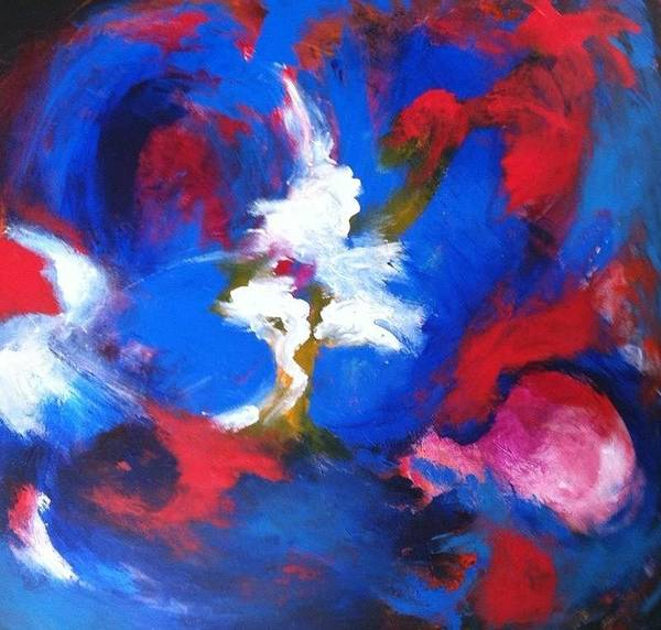 Painting - Blue Whirl by Bebe Brookman