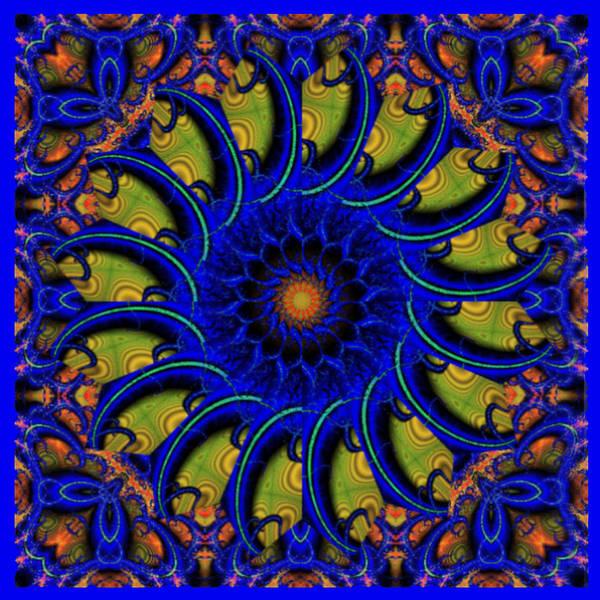 Digital Art - Blue Whirligig by Charmaine Zoe