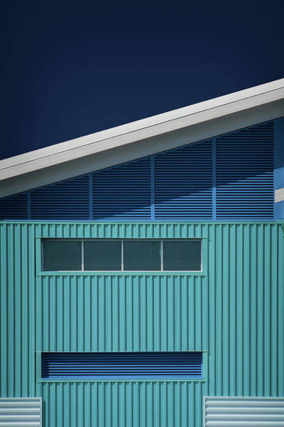 Roofs Photograph - Blue White Blue White by Mathilde Guillemot
