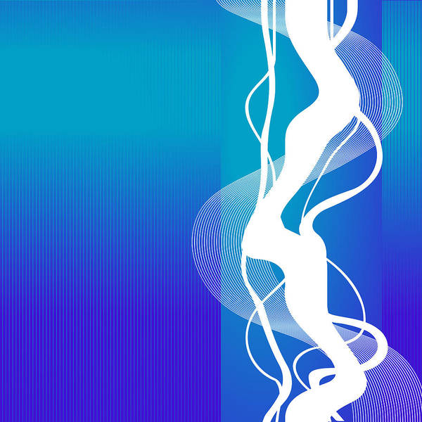 Wall Art - Digital Art - Blue White Lightning by Mellisa Ward