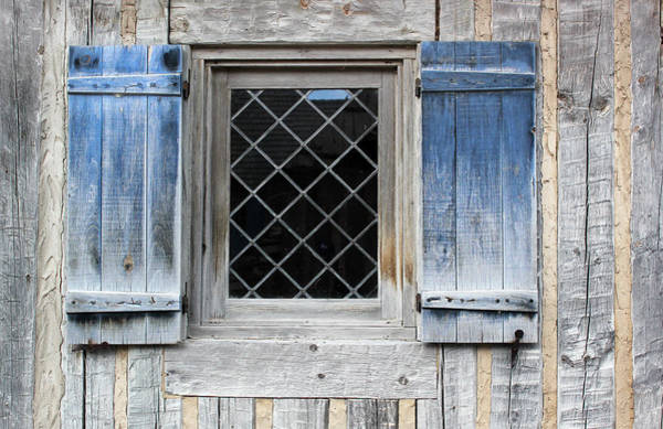 Michilimackinac Wall Art - Photograph - Blue Window 1 by Mary Bedy