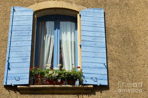 Lourmarin Photograph - Blue Window And Shutters by Bob Phillips