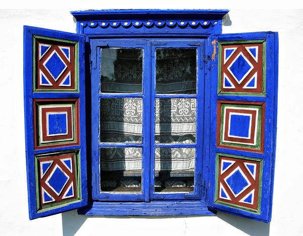 Photograph - Blue Window Handmade by Daliana Pacuraru