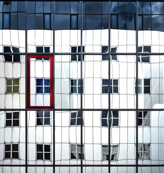 Frame Photograph - Blue Window In A Red Frame. by Harry Verschelden