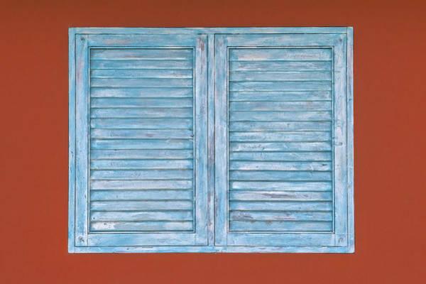 Photograph - Blue Window Shutter Of Aruba IIi by David Letts